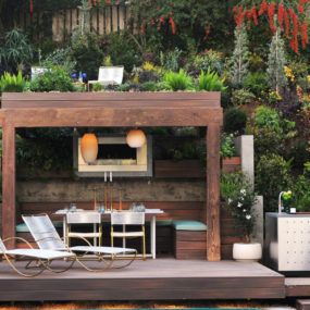 Pergola roof garden 285x285 Modern Garden Designs for Great and Small Outdoors
