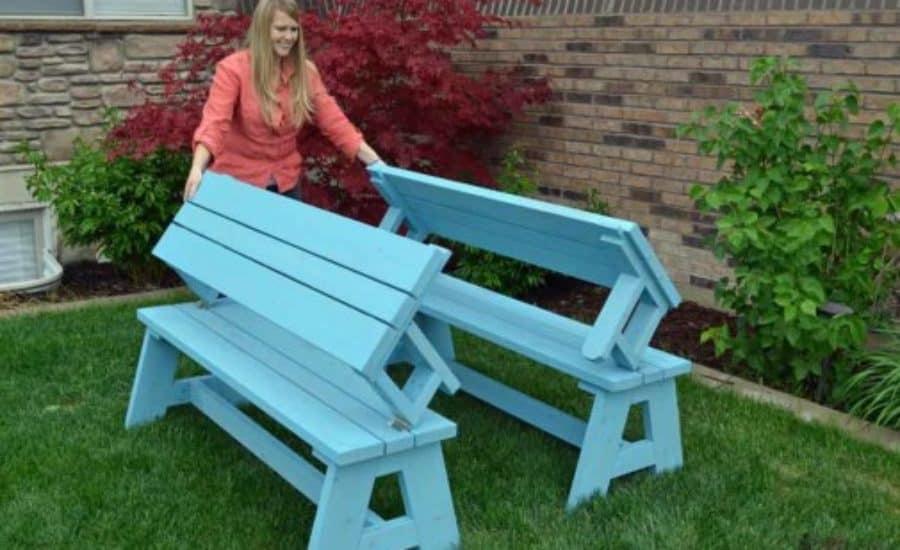 Pincnic Table to Bench