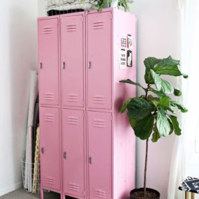 Pink Cabinet 285x285 Decorating With Pink Accents: 20 Ways to Create This Look
