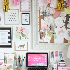 Pink Screen Workspace 285x285 Decorating With Pink Accents: 20 Ways to Create This Look