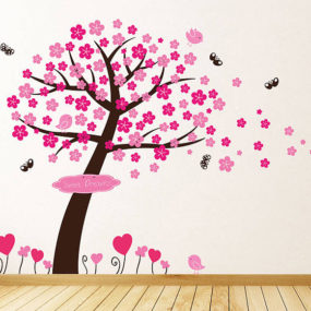 Pink Wall Decal 285x285 Decorating With Pink Accents: 20 Ways to Create This Look
