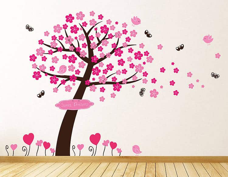 Pink Wall Decal