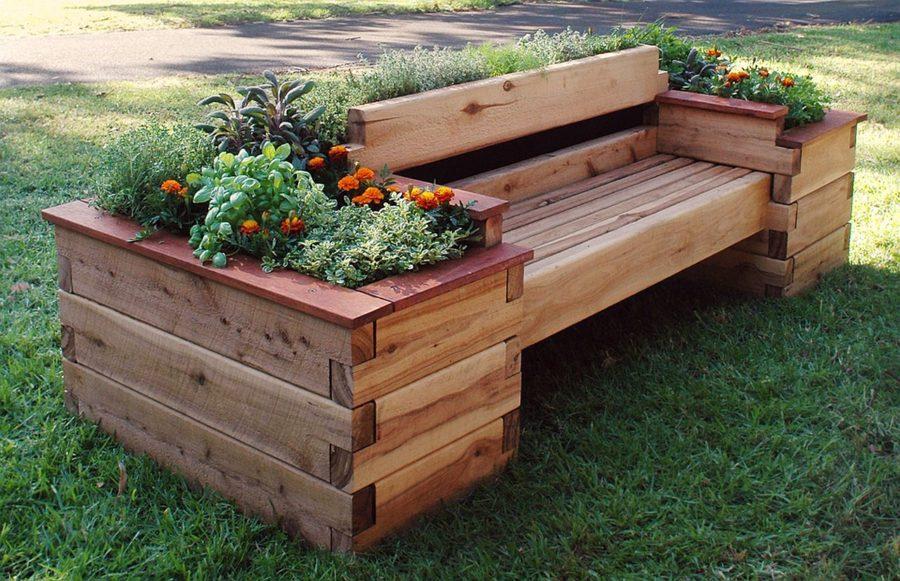 Raised Garden Bed Bench