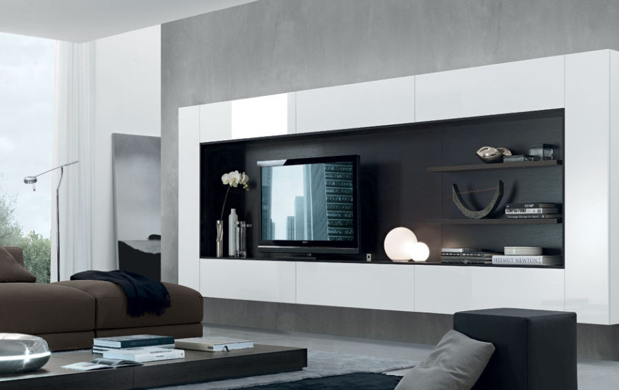 wall unit designs for living room. View in gallery Regolo Wall Unit System from Jesse Chicago 21 Floating Media Center Designs for Clutter Free Living Room