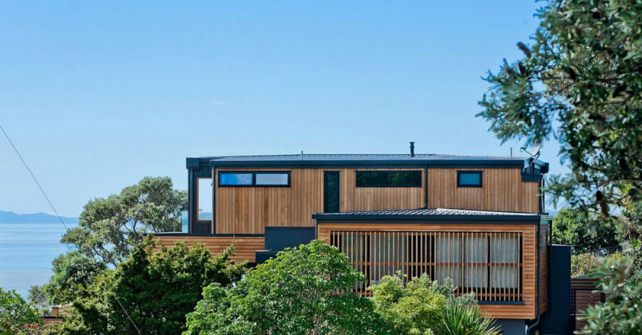 Rothesay Bay Residence wooden exterior