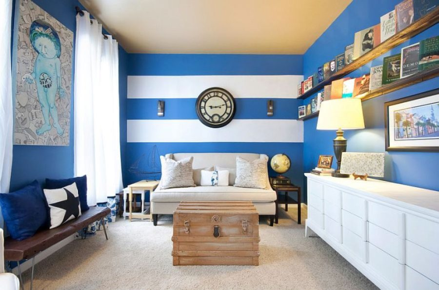 View In Gallery Royal Blue And White Accent Colors 900x595 40 Color Combinations To Get Your Home Decor