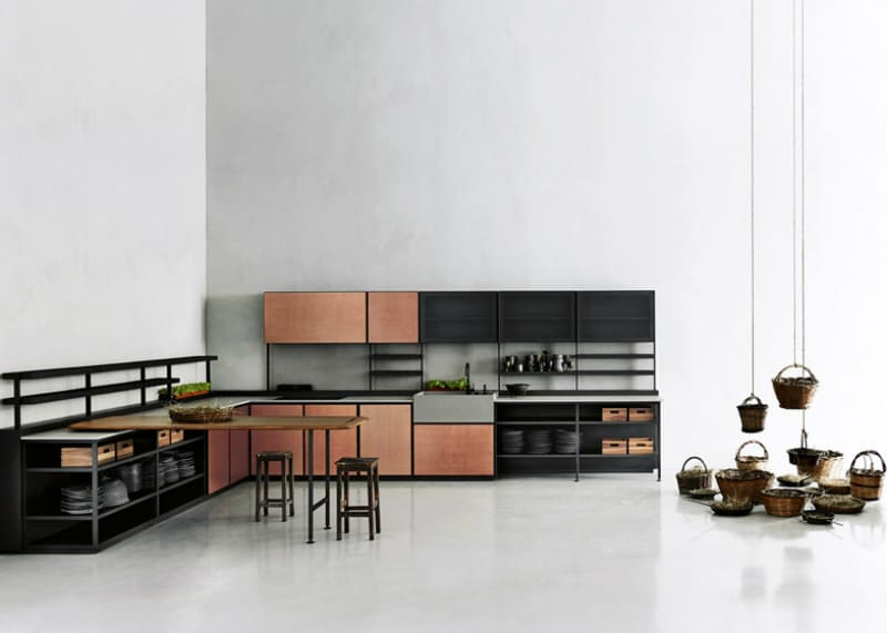 Contemporary kitchen cabinets that redefine modern cook room for Boffi cucine italia