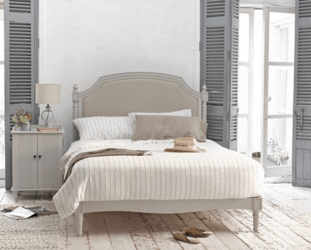 Grey Rustic Bedroom Shutters