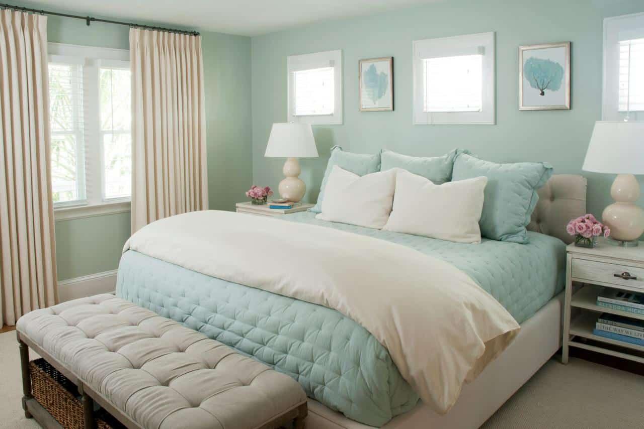 Seafoam Green and Cream room