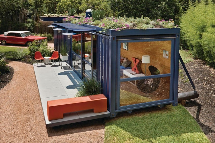 View In Gallery Shipping Container Guest House By Jim Poteet