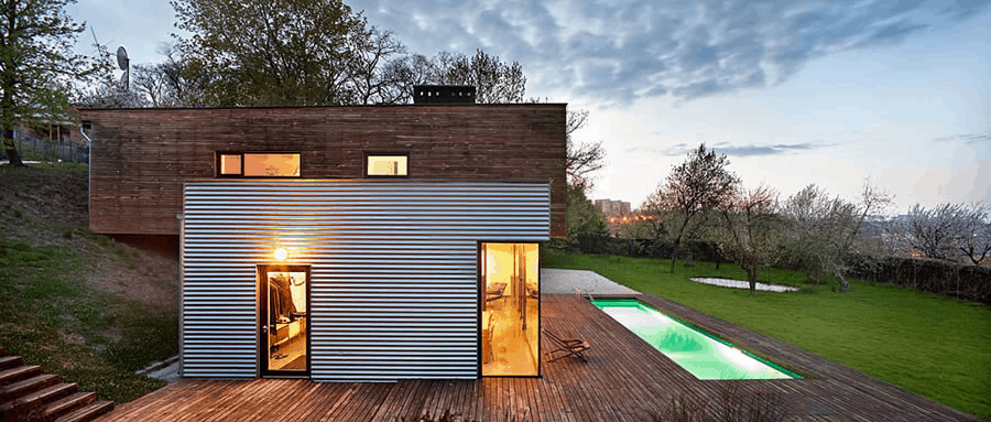 Shipping container home in Ukraine