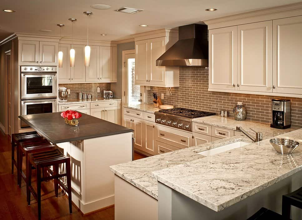 Slate kitchen island top