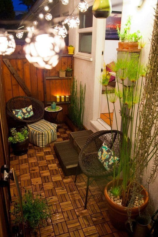 Small Patio with Varied Textures