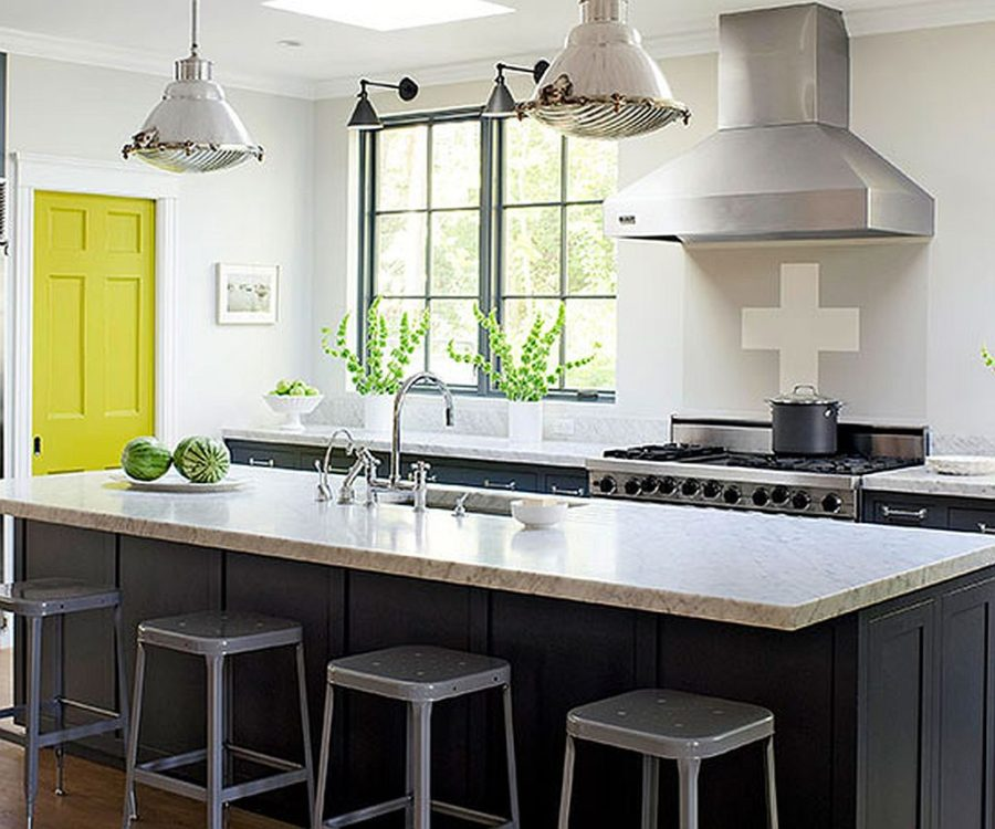 Smoky Gray Kitchen with Citrus Door