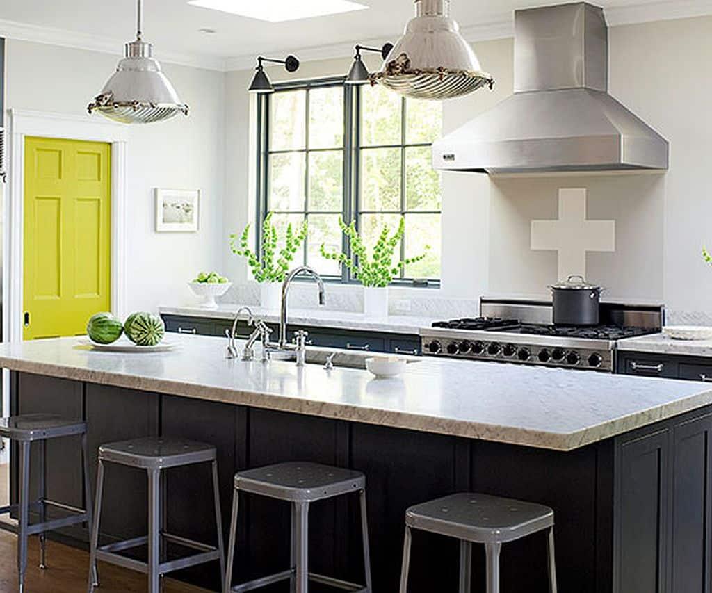 Smoky Gray Kitchen with Citrus Door