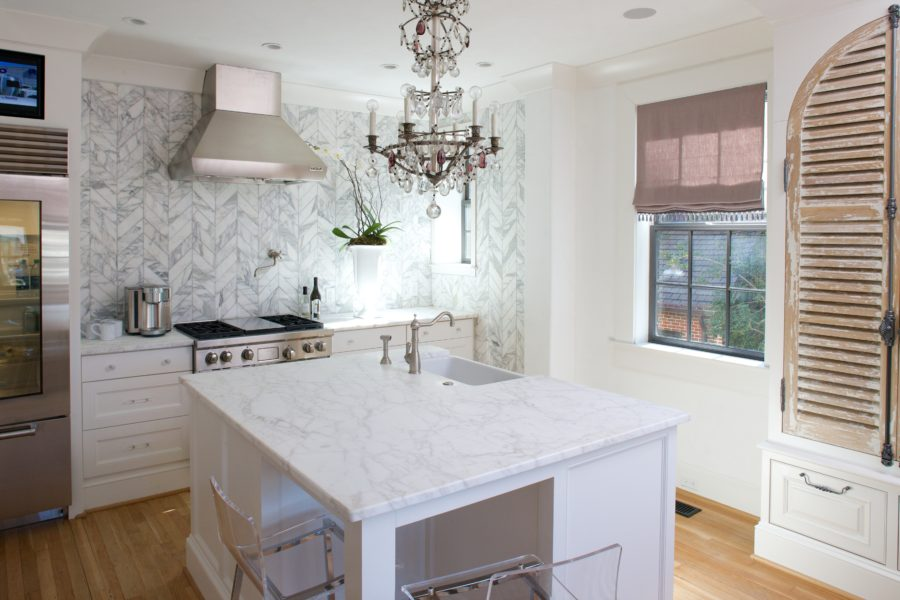 view in gallery square kitchen - Square Kitchen Island