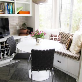 Stylish Breakfast Nook 2 285x285 Breakfast Room Ideas Will Recharge Your Mornings At Home!
