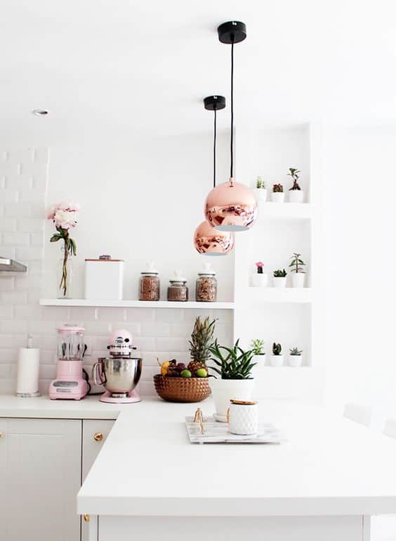 Subtle Pink Kitchen