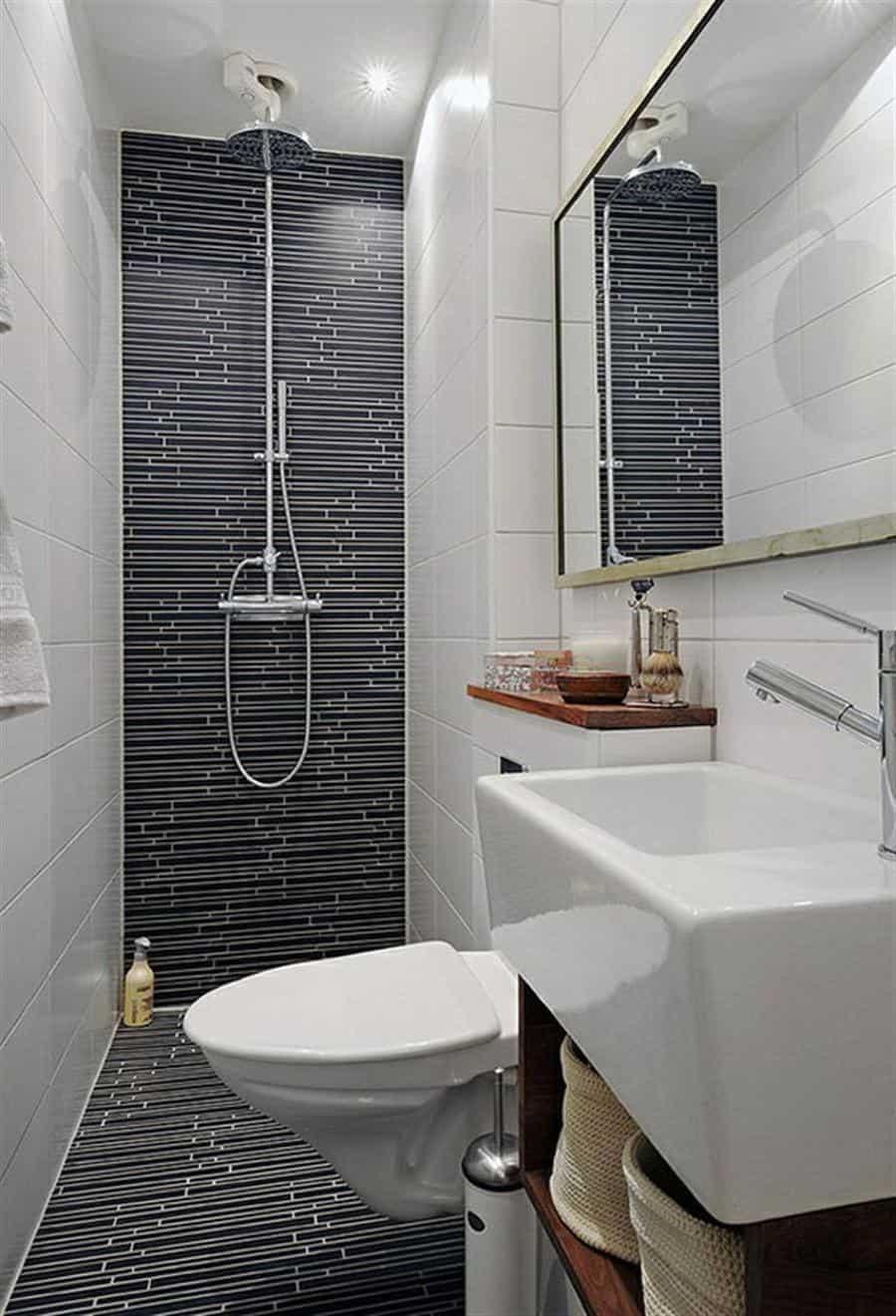 Thin shower tiles