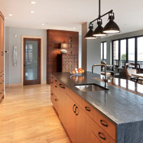 Upscale Urban Dwelling by Kitchen Choreography 285x285 Slate Countertops For your Kitchen and Bathroom