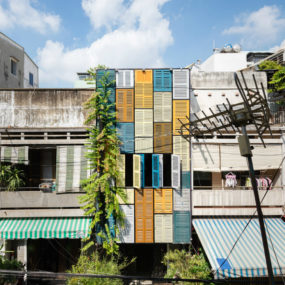 Vegan House by Block Architects in Vietnam 1 285x285 Modern Exterior Shutters For a Stylish Facade