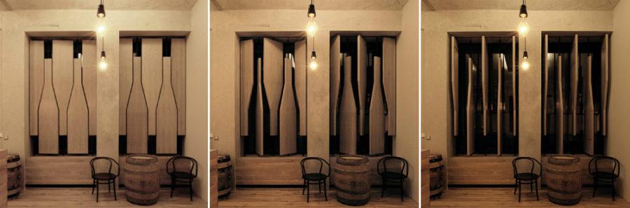 Wine shop shutters