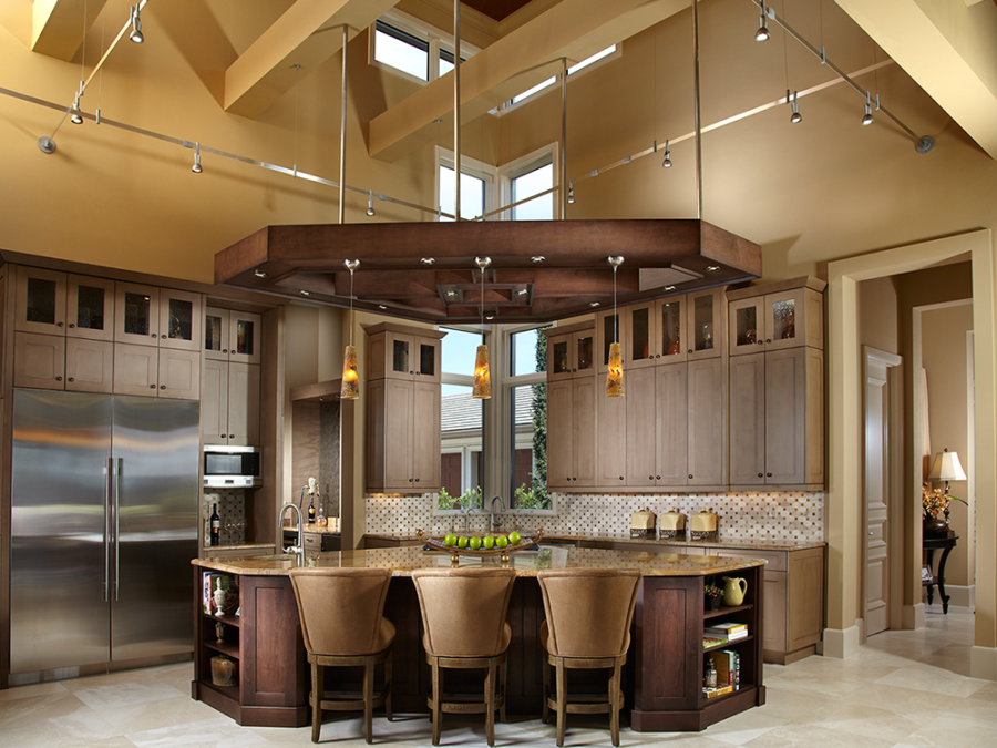 Wedge-shaped kitchen