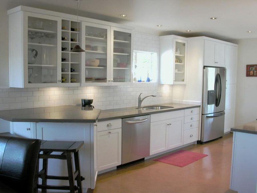 View In Gallery White Kitchen Cabinets With Stainless Steel Appliances