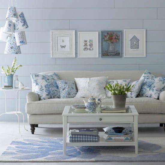 Blue walls/accents