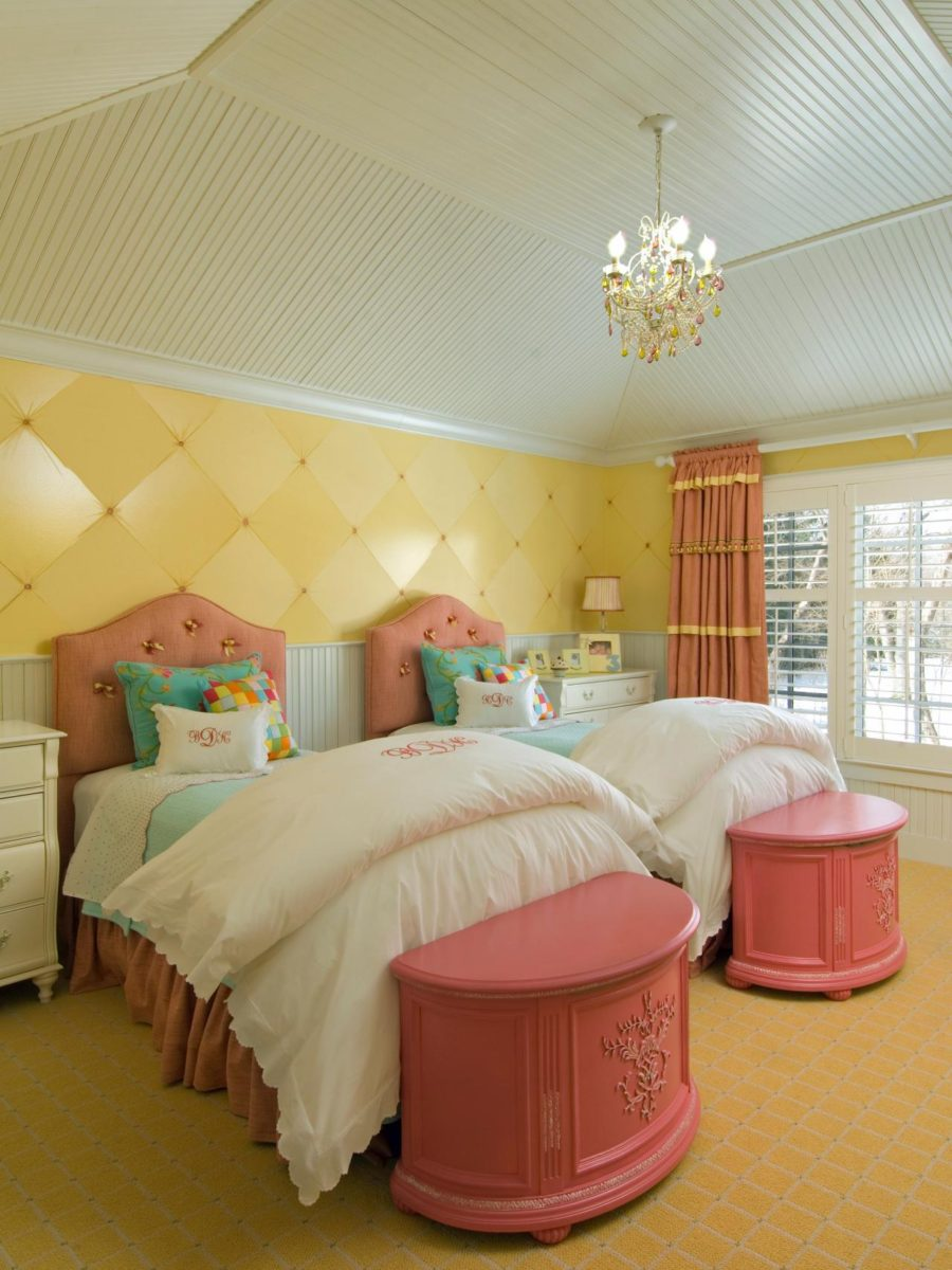 View In Gallery Beige, Yellow And Pink Room