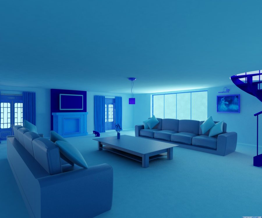 blue room shades