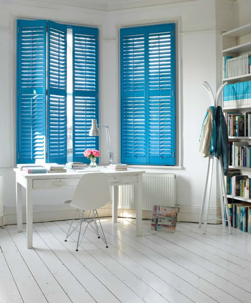 greek blue interior shutters