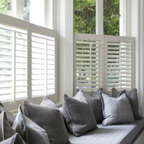 half shutters white