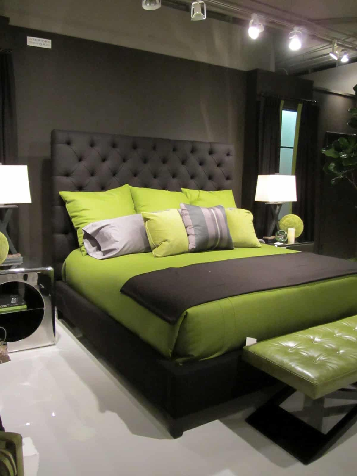 lime and charcoal room