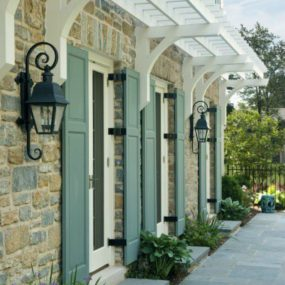 mint green shutters 285x285 Fresh Summer Looks on Modern Shutters