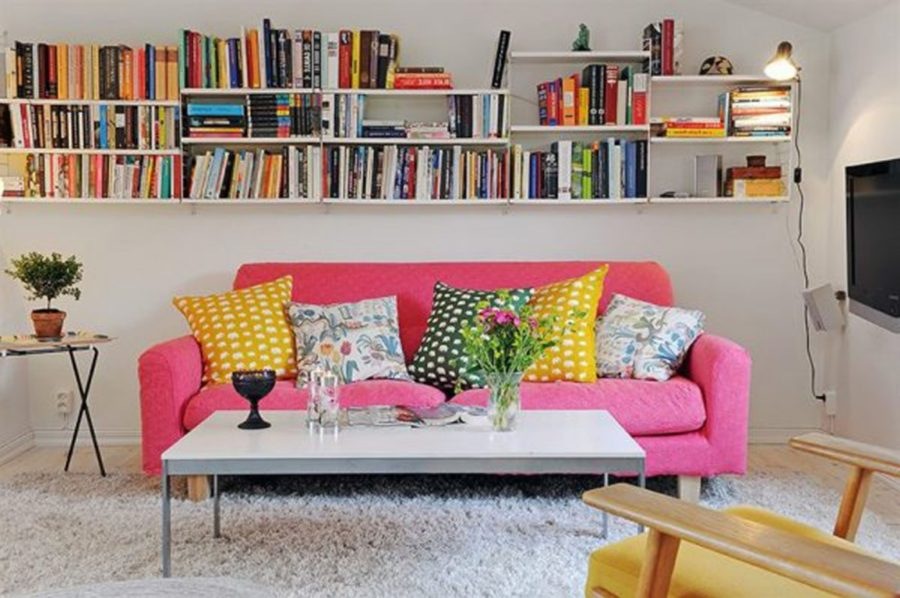 pink and yellow interior