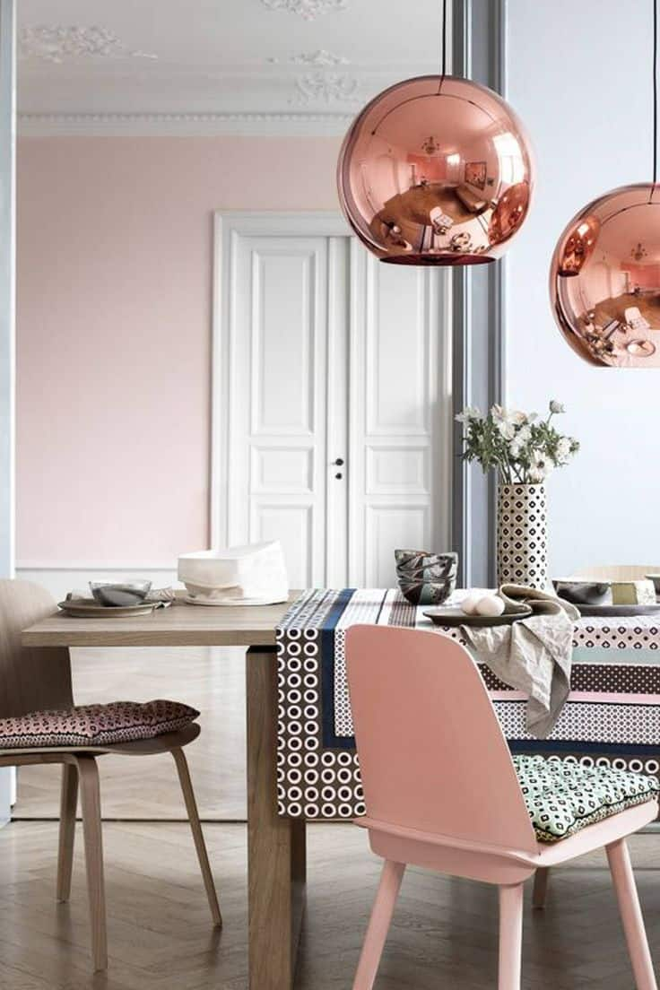 View In Gallery Rose Gold And White Room