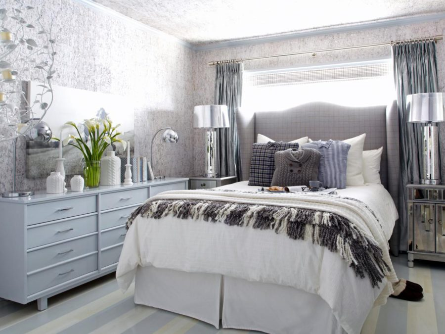 white gray blue silver room