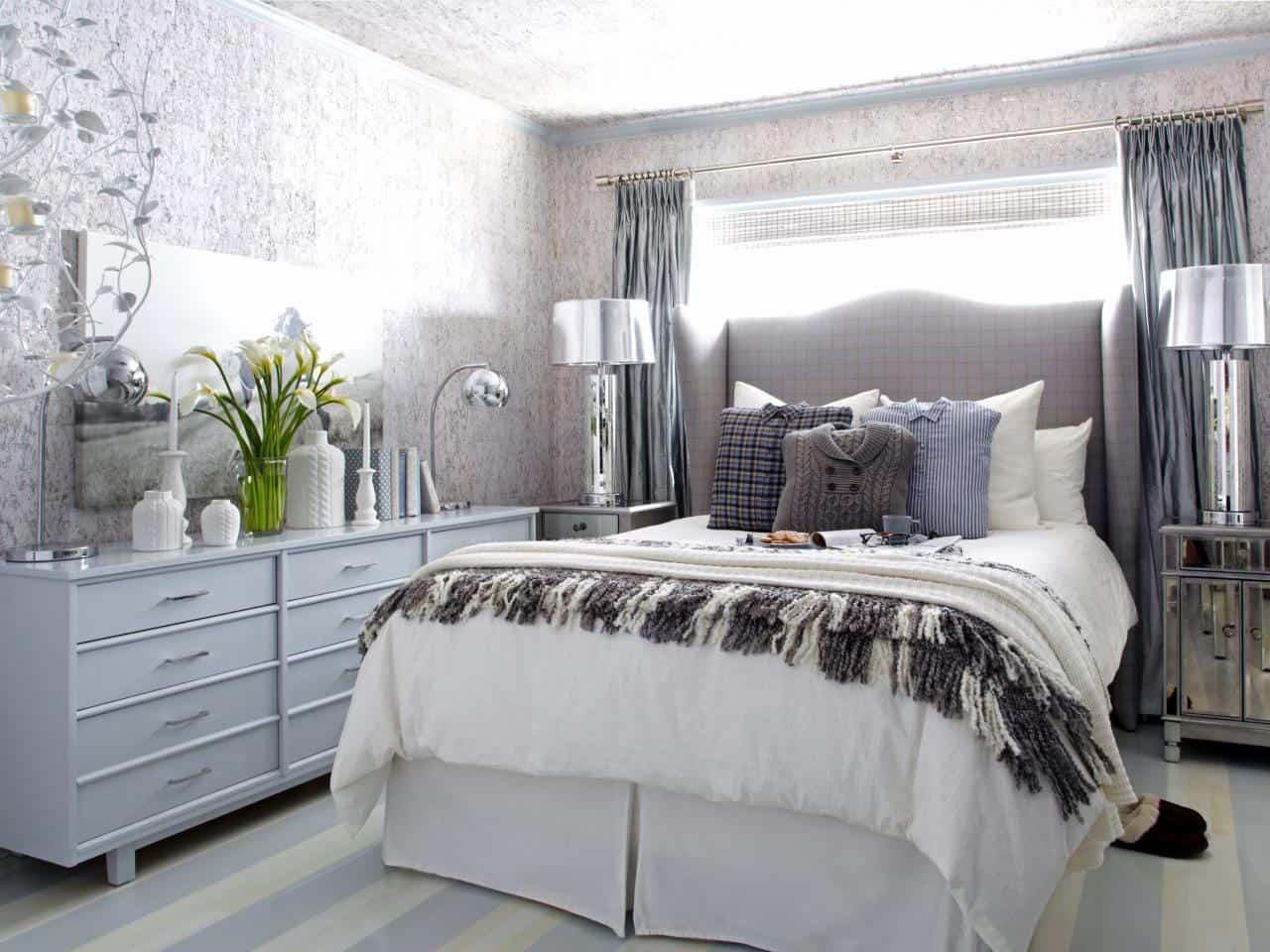 white gray blue silver room