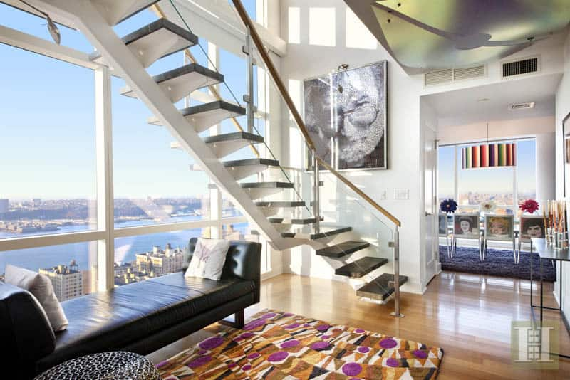 42 amazingly stylish duplex penthouses for Luxury penthouses in manhattan