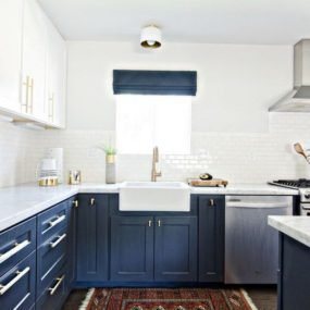 2 two tone kitchen cabinets 285x285 35 Two Tone Kitchen Cabinets To Reinspire Your Favorite Spot In The House