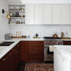 3 two tone kitchen cabinets 285x285 35 Two Tone Kitchen Cabinets To Reinspire Your Favorite Spot In The House