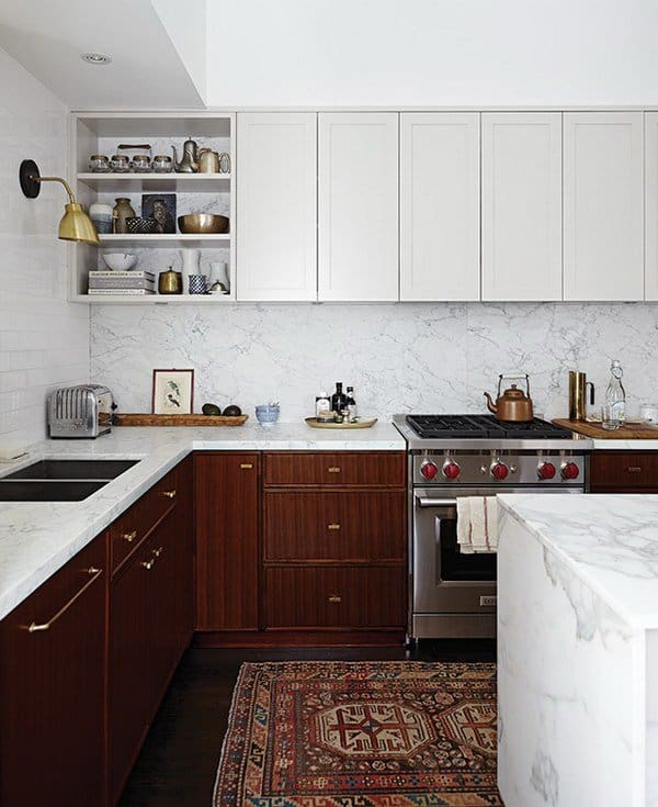 Contrasting Painted Kitchen Cabinets