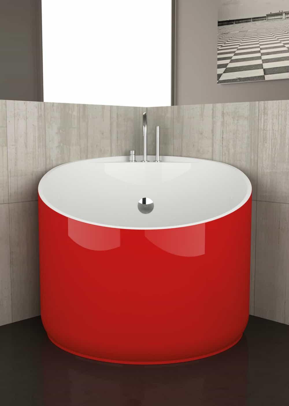 Acrylic mini bathtub