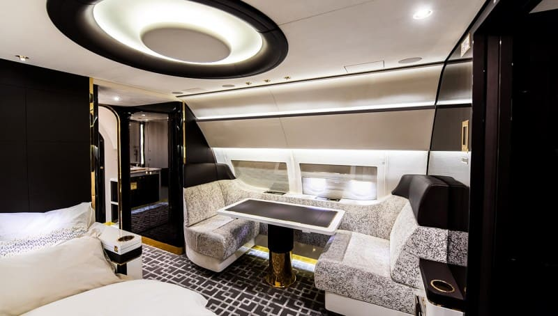 Merveilleux A Private Jet Interior View In Gallery Airbus ACJ319 Master Bedroom