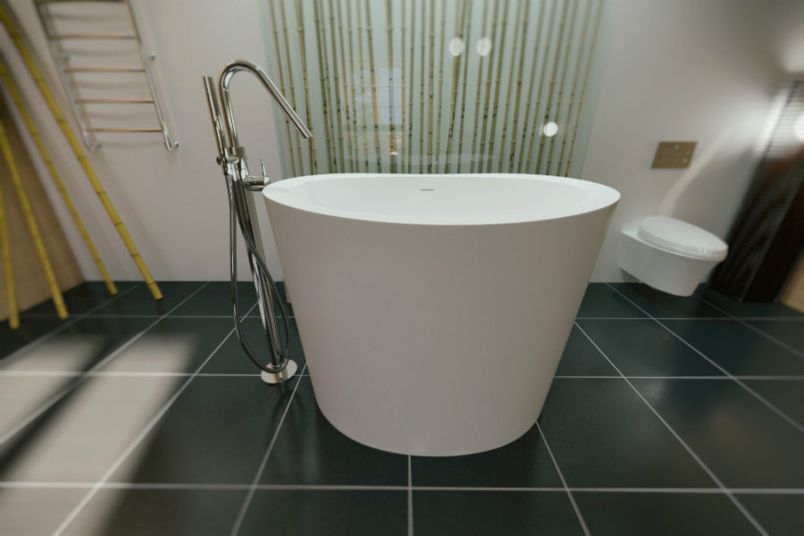 view in gallery aquatica trueofuro freestanding solid surface bathtub