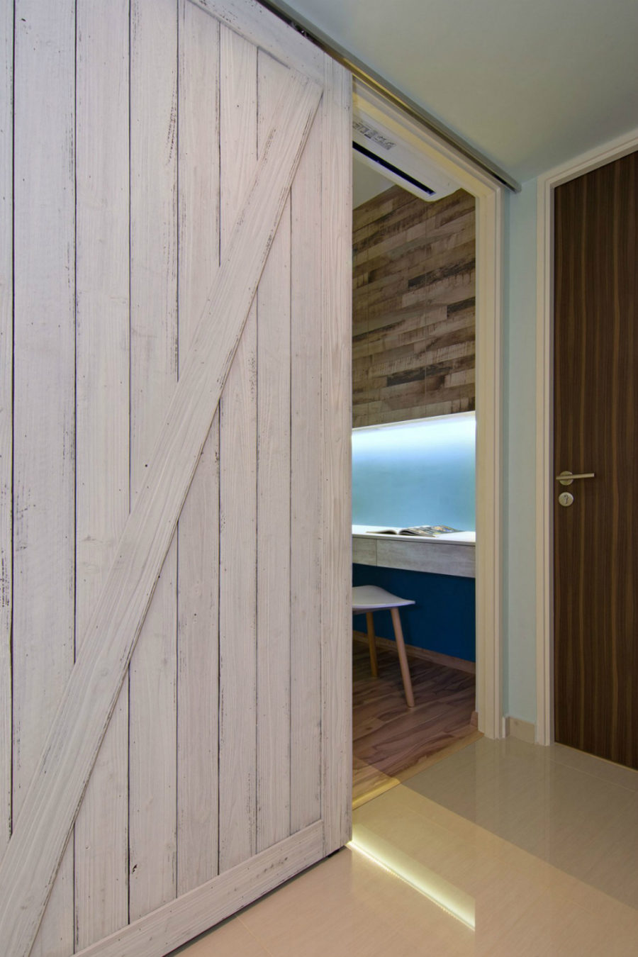 Barn doors in a Beach Home in Singapore