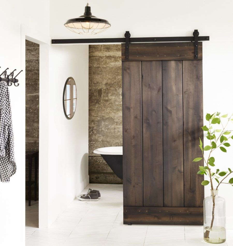 bring some country spirit to your home with interior barn doors. Black Bedroom Furniture Sets. Home Design Ideas