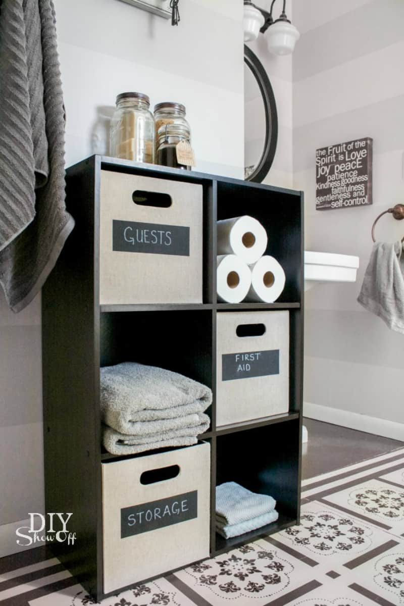 View in gallery Bathroom cube storage
