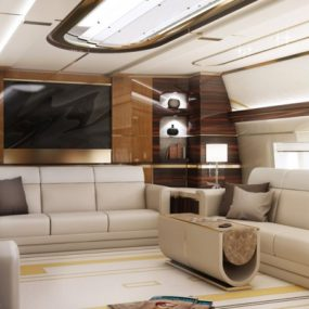Luxury Living: Best Private Jet Interior Designs